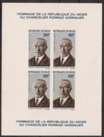 Niger - 1967 - Bloc Feuillet BF N°Yv. 5 - Adenauer - Epreuve De Luxe - Neuf Luxe ** / MNH / Postfrisch - Célébrités
