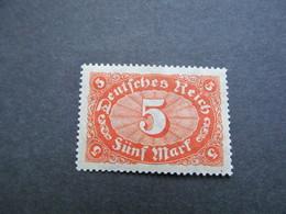 DR Nr.  194a, 1921, Freimarken Ziffern, Postfrisch/MNH/**, BPP Geprüft, BS - Deutschland