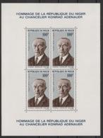 Niger - 1967 - Bloc Feuillet BF N°Yv. 5 - Adenauer - Neuf Luxe ** / MNH / Postfrisch - Célébrités
