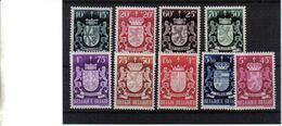 716/724 Wapenschilden  POSTFRIS** 1945 - Belgique