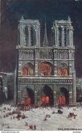 OILETTE  PARIS V  Série 945 P  N°34  ........... Notre Dame La Nuit ....... Un Mot à La Poste - Tuck, Raphael
