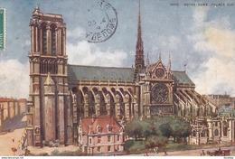 OILETTE  PARIS V  Série 945 P  N°35  ........... Notre Dame Façade Sud  ....... Un Mot à La Poste - Tuck, Raphael