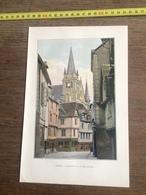 1901 NEURDEIN FRERES VANNES CATHEDRALE RUE DE L HOTEL DE VILLE - Vieux Papiers
