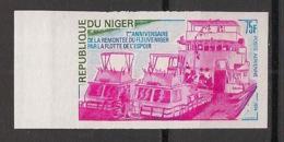 Niger - 1974 - Poste Aérienne PA N°Yv. 224 - Fleuve Niger - Non Dentelé / Imperf. - Neuf Luxe ** / MNH / Postfrisch - Bateaux