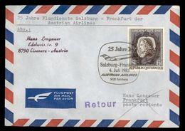 H 174) Österreich SSt 1985 (FUX), 25 Jahre Flugdienste Salzburg - Frankfurt, AUA - Avions