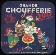 Belgique Sous Bock Beermat Coaster Bière Beer Chouffe Marathon Grande Choufferie 2017 - Sous-bocks