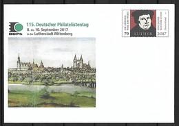 2017 Joint/Gemeinschaftsausgabe Germany Brazil/ Deutschland Brasilien, GERMAN POSTAL STATIONARY: Luther - Emissions Communes