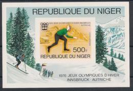Niger - 1976 - Bloc Feuillet BF N°Yv. 13 - Olympics / Innsbruck - Non Dentelé / Imperf. - Neuf Luxe ** / MNH - Hiver 1976: Innsbruck