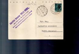 286 Intero Postale Turrida Lire 20 Usato Monteupo Fiorentino  A Raito Salerno 39-7-86 - 6. 1946-.. Repubblica