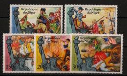 Niger - 1976 - N°Yv. 356 à 357 + PA 265 à 267 - US Independance - Neuf Luxe ** / MNH / Postfrisch - Indépendance USA