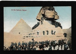 Egypt-Huge Crowd At The Sphinx 1908 - Antique Postcard - Egypt
