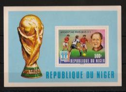 Niger - 1978 - Bloc Feuillet BF N°Yv. 22 - Football World Cup / Argentina 78 - Neuf Luxe ** / MNH / Postfrisch - 1978 – Argentine