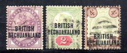 APR90 - BECHUANALAND 1892 , Tre Valori Usati (2380A) . - 1885-1895 Colonia Britannica