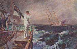 AK Der Letzte Gruß - SMS Ayesha - Kriegsmarine - Patriotika - 1. WK (40619) - War 1914-18