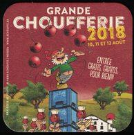 Belgique Sous Bock Beermat Coaster Bière Beer Chouffe Marathon Grande Choufferie 2018 - Sous-bocks