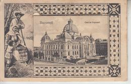 BUCURESTI - Carte à Système - Casa De Depuneri & Atheneul Roman ( ETAT )  PRIX FIXE - Roumanie