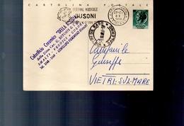 290 Intero Postale Turrida Lire 20 Da Empoli 8-10-58 A Vietri Sul Mare - 6. 1946-.. Repubblica