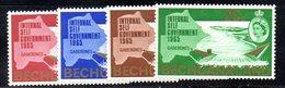 APR105 - BECHUANALAND 1965 , Serie Yvert N. 137/140  ***  MNH  (2380A) . - Bechuanaland (...-1966)