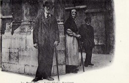 Cp Repro Neudin PARIS VECU Mendiants  Non Ecrite 1977 - Marchands Ambulants