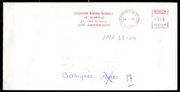 EMA33-04 :  Dept 33 (Gironde) BORDEAUX FONDAUDEGE 1988 > EMA 2,20 Analyses Medicales - Marcophilie (Lettres)
