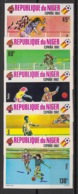 Niger - 1982 - N°Mi. 719 à 723B - Football World Cup Espana 82 - Non Dentelé / Imperf. - Neuf Luxe ** / MNH / Postfrisch - Coupe Du Monde