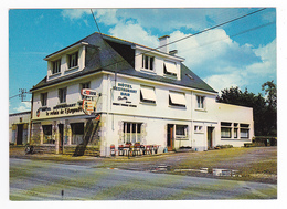 56 Elven N°19 Hôtel Restaurant Bar Le Relais De L'Argouët Tél : 1 33 Pub Bière La Meuse Pancarte Les Routiers Mobylette - Elven