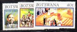 APR623 - BOTSWANA 1977 , Serie Yvert N. 331/333  ***  MNH  (2380A) . Silver - Botswana (1966-...)