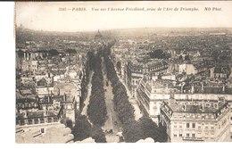 3343. Paris. Vue Générale Sur L'Avenue Friedland, Prise De L'Arc De Triomphe. à M. Et Mme Mailliacà Luc Sur Orbieu 1905 - Arc De Triomphe
