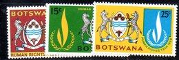 APR624 - BOTSWANA 1968 , Serie Yvert N. 192/194  ***  MNH  (2380A) . Diritti Uomo - Botswana (1966-...)