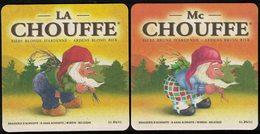 Belgique Sous Bock Beermat Coaster Bière Beer La Chouffe Blonde Et La Mc Chouffe Brune - Sous-bocks