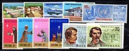 APR625 - BOTSWANA  , Alcuni Valori Con Gomma Integra  ***  MNH  (2380A) . - Botswana (1966-...)