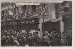 57 - METZ - DOCUMENT SUR L'INAUGURATION D'UNE PLAQUE SUR LA MAISON NATALE DE PILATRE DE ROZIER - Metz