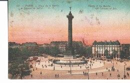 127. Paris. Place De La Bastille Et Colonne De Juillet. De Marcel Et France à Jules Drocourt à Guise. - Places, Squares