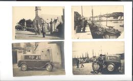 8 CARTES - PHOTO  Bretagne Finistère Audierne Plozévet  Sites à Identifier ( Vers 1935 ) - Automobile - Audierne