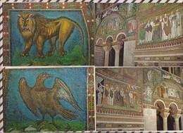 9AL1103 Ravenna Basilica Di Vitale Lot De 8 Cartes  2 SCANS - Ravenna