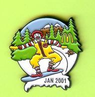 Pin's Mac Do McDonald's Rony /Ronald Planche À Neige (Surf) - 10CC21 - McDonald's