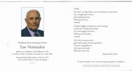 Dp. Rijkswachter. Vermeulen Leo. ° Turnhout 1931 † Oud-Turnhout 2007 - Religion &  Esoterik