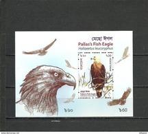 BANGLADESH 2018 Birds Of Prey, Fish Eagle SS Perf. MNH - Adler & Greifvögel