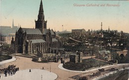 GLASGOW CATHEDRAL AND NECROPOLIS. VALENTINE'S SERIES. CPA CIRCA 1900s - BLEUP - Lanarkshire / Glasgow