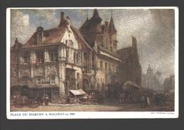 Mechelen - Place Du Marché à Malines En 1884 - Asiles Des Soldats Invalides Belges - Mechelen