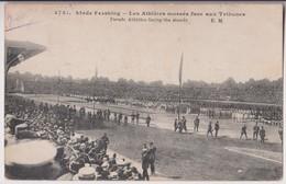 PARIS 12ème : STADE PERSHING - BOIS DE VINCENNES - LES ATHLETES FACE AUX TRIBUNES  - ECRITE EN 1920 - 2 SCANS - - Paris (12)