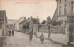 10 Bragelogne Grande Rue Cpa Carte Animée Collection Chapron - Frankreich