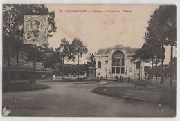 8742 Cochinchine Vietnam Square Du Theatre Monument Stamping Indo-Chine - Vietnam