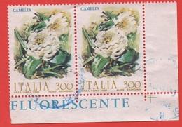1982 (1593) Fiori Camelia In Coppia - Leggi Il Messaggio Del Venditore - 6. 1946-.. Repubblica