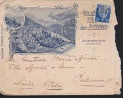 *SVIZZERA -- Busta Illustrata  Albergo GRAND HOTEL DES AVANTS - MONTREUX.10/09/1909. - Storia Postale