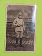 PHOTO Carte Postale MILITAIRE Vers 1940 Soldat Guerre Uniforme / 63 - War, Military