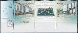 Mi 435-36 Zierfeld Coupon MNH ** Tartu University 370th Anniversary / University Library 200th Anniversary - Estonie