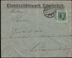 Lettre Elektrizitätswerk Ettelbrück, Cachet Ettelbruck 31.7.1919, Michel: 93 - 1914-24 Marie-Adélaïde