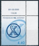 Mi 438 MNH ** New Estonian Constitution 10th Anniversary Marginal Number - Estonie