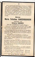 Doodsprentje VanSchoubroek Maria Felicitea Wed Vandenput Norbertus °1870 Glabbeek +1944 Zeyen Willems - Décès